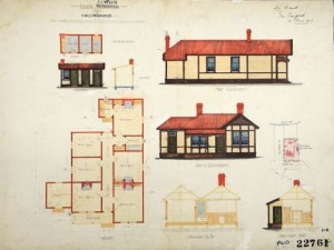 Original House Plan, collingwood police station, house history