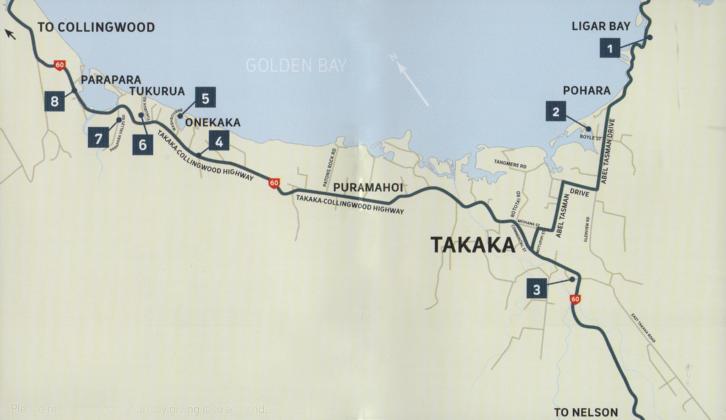 map of golden bay art trail